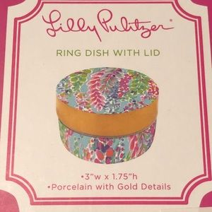 867c3dd0689 Lilly Pulitzer Accessories - Lilly pulitzer porcelain ring dish with lid
